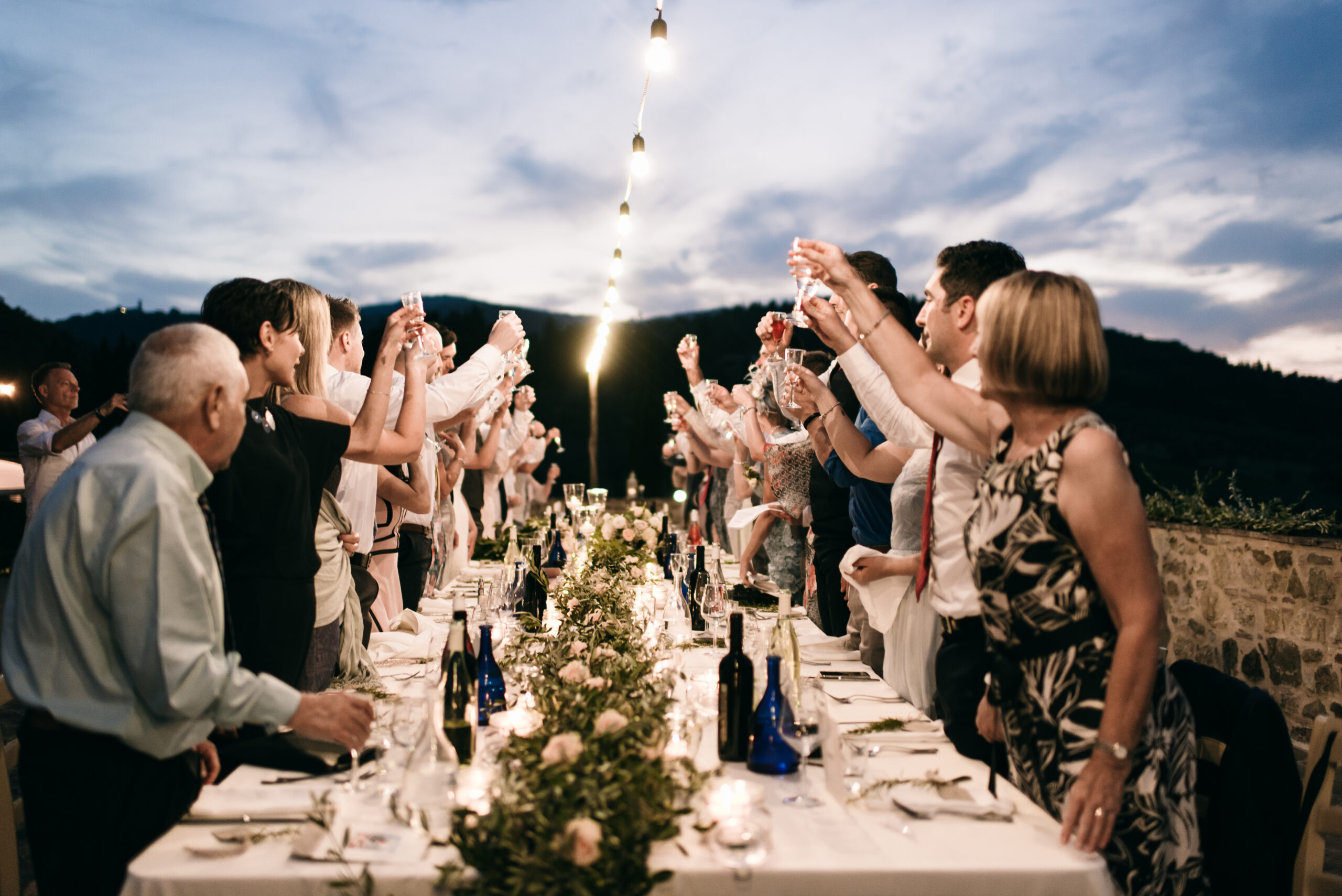 Family Celebration in Tuscany