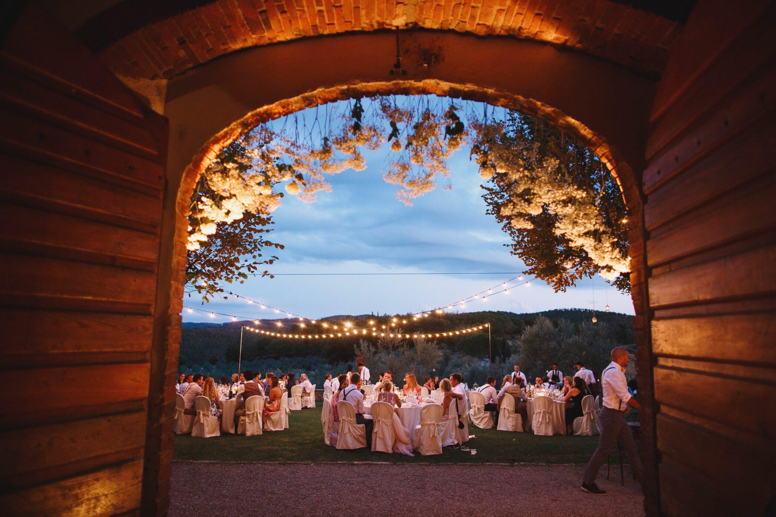 Doorway to Tuscan garden