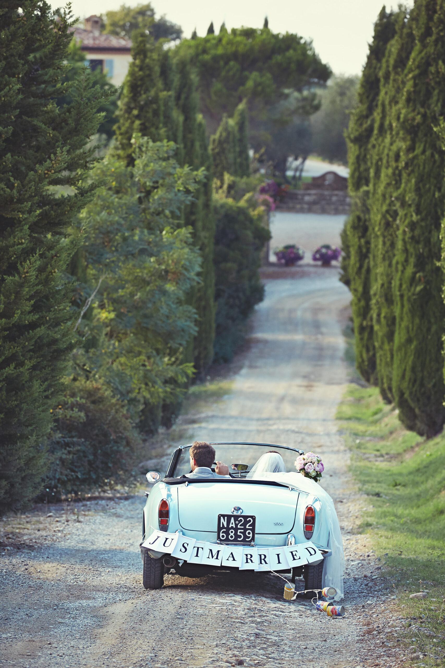 Honeymoon vintage car