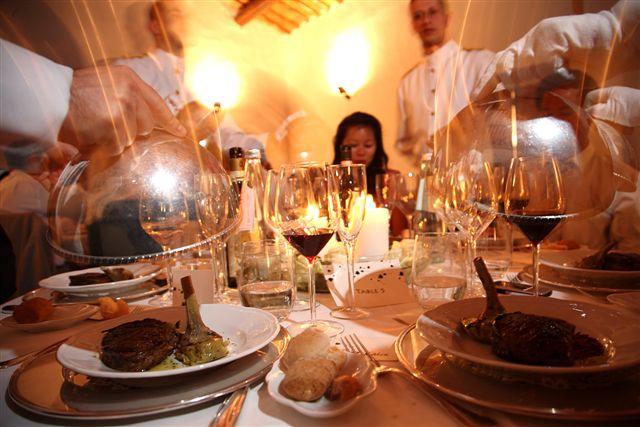 Service of wedding supper