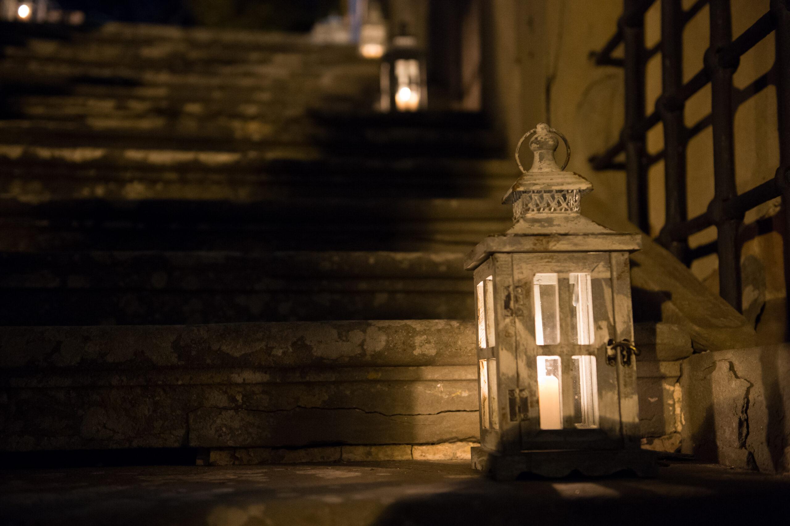 Classical white wooden lanterns for rustic elegant weddings